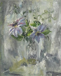 nellie moser, clematis by mary nicol neill armour