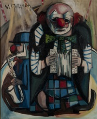 clowns by wilhelm goliasch