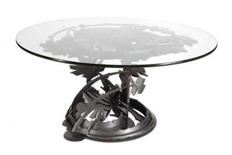 Albert Paley Steel And Glass Dragonu0027s Back Table By Albert Paley