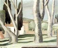 paysage de provence, les sycomores, bormes by anne carlu