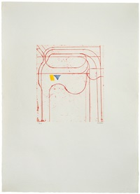 construct (red) (from eight color etchings) by richard diebenkorn