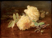 roses blanches by elie joseph laurent