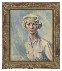 portrait of vicky martin (+ portrait of ann todd, verso) by stephen ward