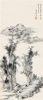 疏林遥岑 by gu yun