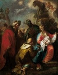 die anbetung der könige (+ die anbetung der hirten; pair) by martino altomonte