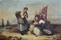 fisherwomen & child by alexander leggatt