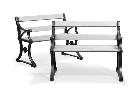 benches pair by folke bensow