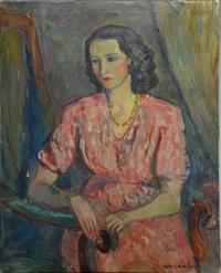 femme assise by louis audibert