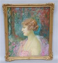 portrait d'une élégante de profil by m. a. zoegger camax