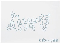 the three dancers by keith haring