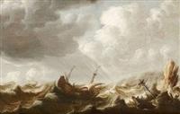 marine dans une côte rocheuse by pieter coopse