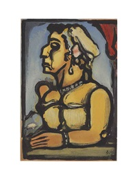 madame carmencita (from cirque d'etoile filante (c. 248)) by georges rouault