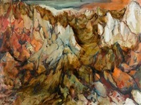 mountainous landscape by esther peretz arad
