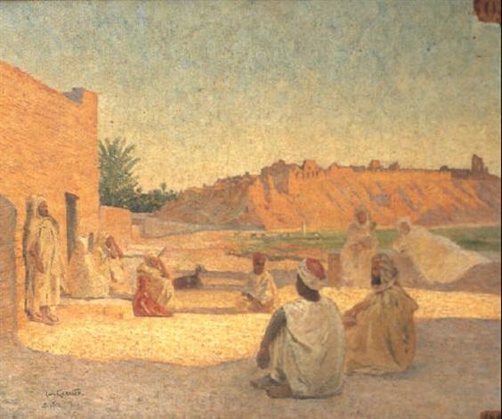 soir de ramadan à biskra by louis françois cabanes