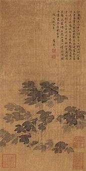 晚风乔木图 by xue susu