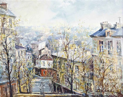 the steps of montmartre by lucien delarue