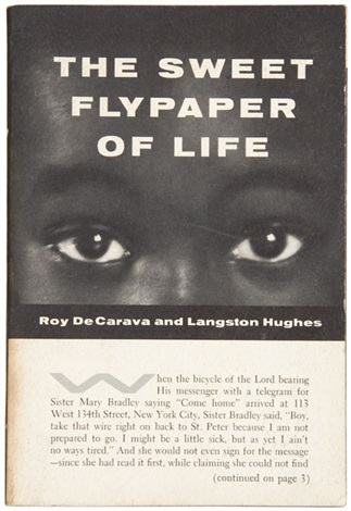 the sweet flypaper of life bk wtext by langston huges w141 works folio by roy decarava
