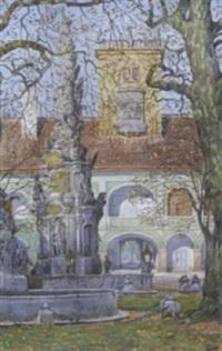 pestsäule in heiligenkreuz by franz bilko