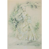 costume design for beverly sills as manon in massenet's manon by jose varona