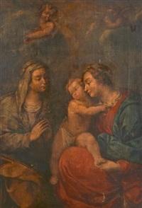 vierge à l'enfant avec sainte anne by carlo francesco nuvolone