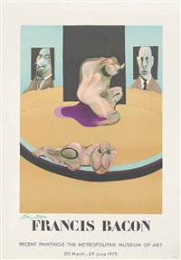 metropolitan museum of art (exhibition poster) by francis bacon