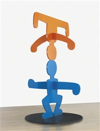 untitled (acrobats) by keith haring