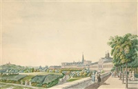 umrissradierungen (after laurenz janscha, from collection de cinquante vue du rhin le plus interessantes et les plus pittoresques, depuis spire jusqu'a düsseldorf) (4 works) by johann ziegler
