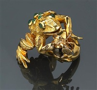 a frog ring by kurt wayne