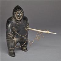 hunter with harpoon by akeeaktashuk