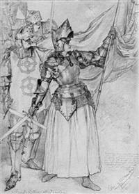 amanda lindner als jungfrau (von orléans) by christian wilhelm allers