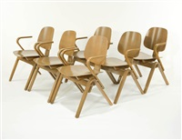 group of 6 chairs by joe atkinson