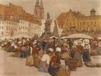 marktplatz in nürnberg by johann nepomuk geller