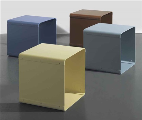 stools 4 works by liam gillick