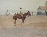 an equestrian on the boulevard of scheveningen by isaac israels