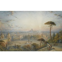 rome from the pincio by william collingwood smith