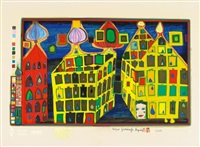 it hurts to wait with love if love is somewhere else by friedensreich hundertwasser