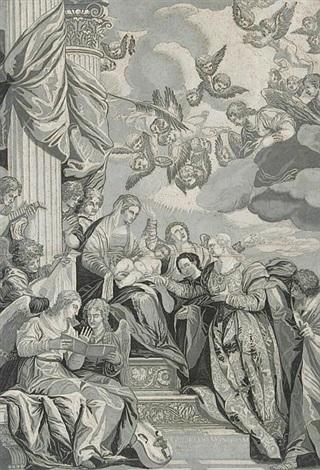 die vermählung der heiligen katharina mit dem jesusknaben after pablo caliari by john baptist jackson