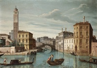 the entrance to the canareggio, venice by pietro bellotti
