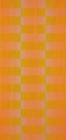 resonance in orange by julian stanczak