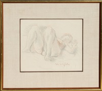 reclining nude by moses soyer