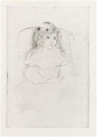 sara smiling by mary cassatt