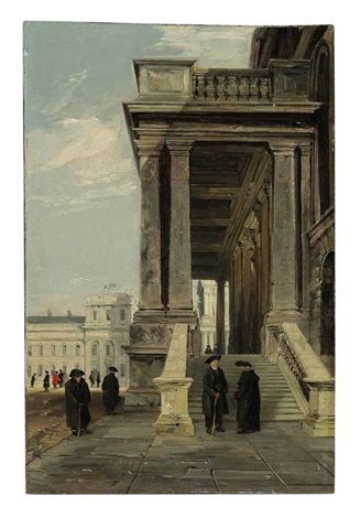 pensioners in the great quadrangle greenwich by james holland