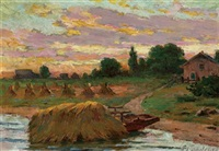 harvest time by joseph-charles franchere