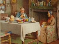 tea beside the fire by henry edward spernon tozer