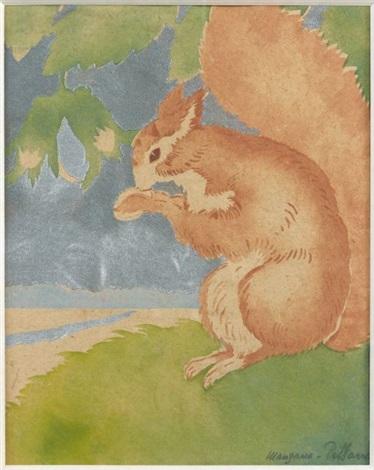 ecureuil by georges manzana pissarro