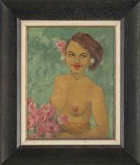 the girl with azaleas by dorothy newsome