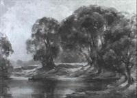 the yarra at heidelburg by albert ernest newbury