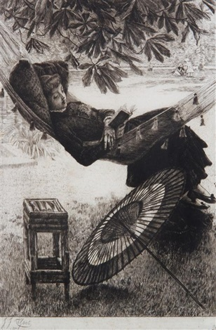 le hamac by james jacques joseph tissot