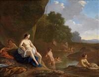 badende nymphen by dirck van der lisse