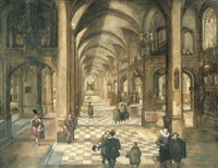 a church interior by wolf avemann